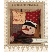 Patchwork Pillow January - Product Image