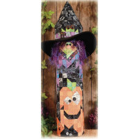 Witch's Pumpkin Post Complete Kit - Product Image
