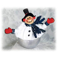 Joyful Snowman Ice Cream Shot Fabric Kit - Product Image