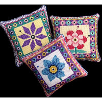 3 Flower Pincushions - Product Image