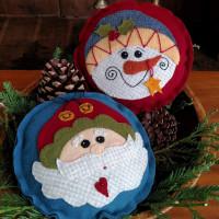 Santa & Snowman Pin Cushions - Product Image