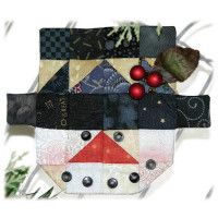 Snowman Espresso Fabric Kit - Product Image